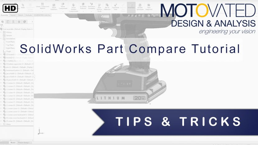 Motovated SolidWorks Part Compare Tutorial with Joshua Benck