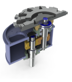 Ripper Gearbox View CAD Model by Motovated