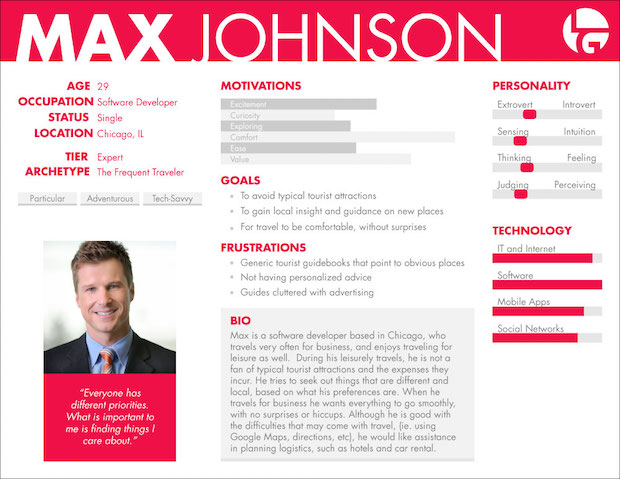 Persona Profile Example for how to validate your product idea blog