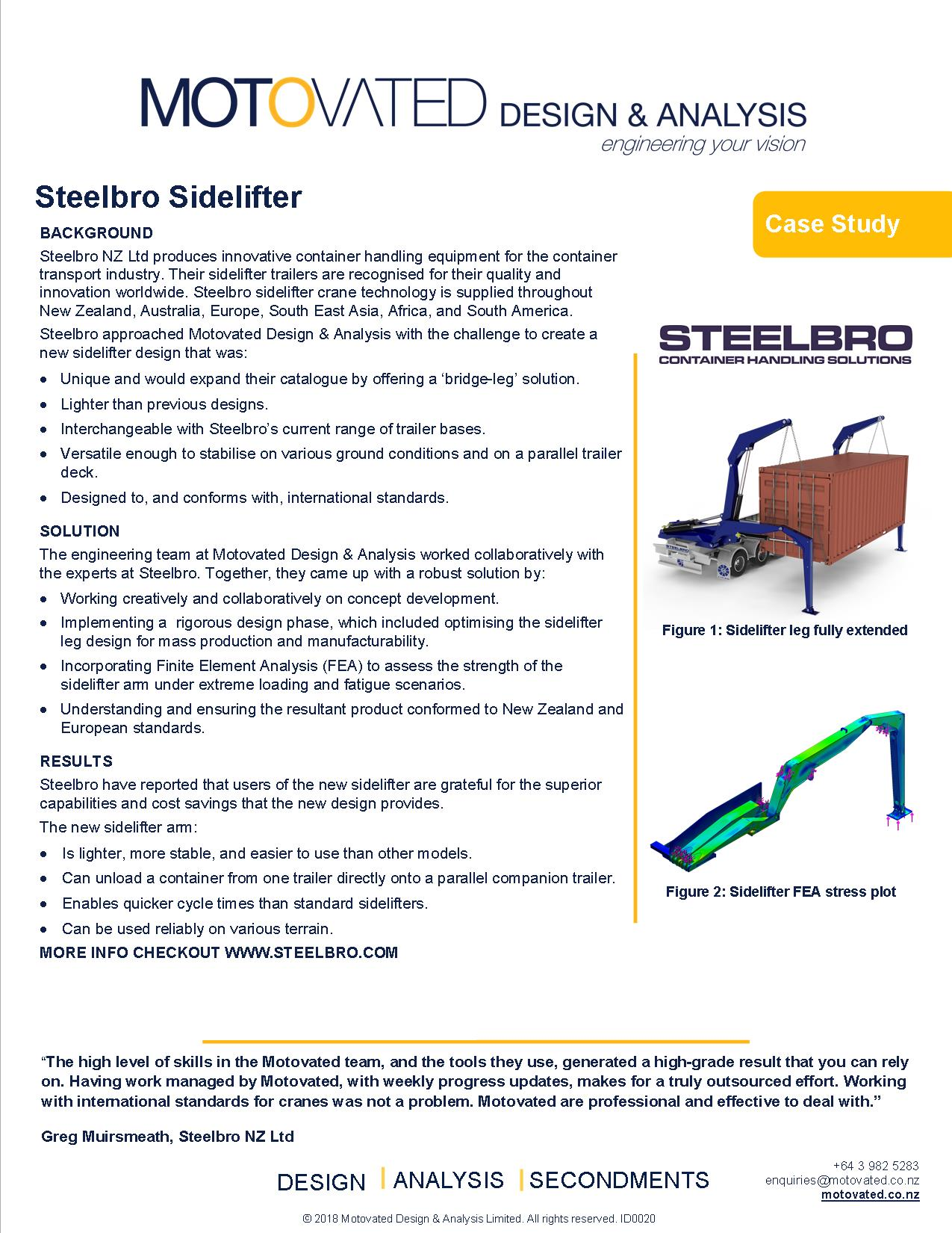 Lifting equipment case study for Steelbro